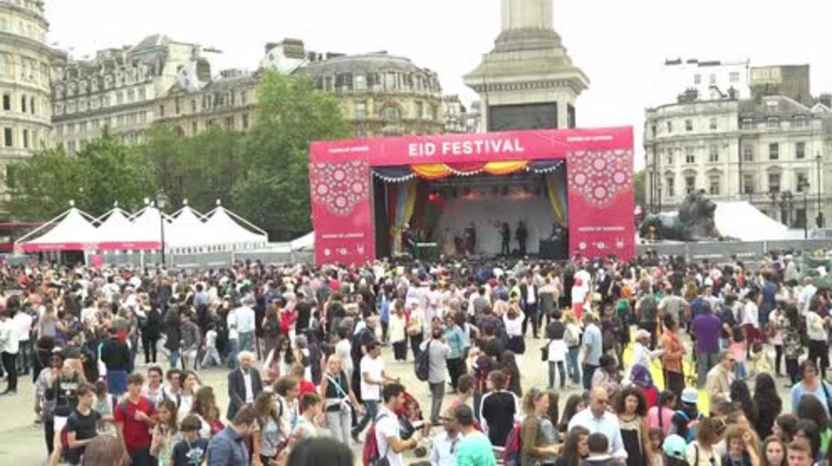 UK: Sadiq Khan joins thousands for Eid celebrations in Trafalgar Square