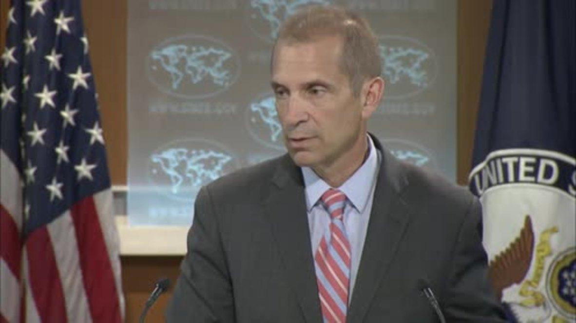USA: State Dept. rep stifles snigger as Boris Johnson announced British FM