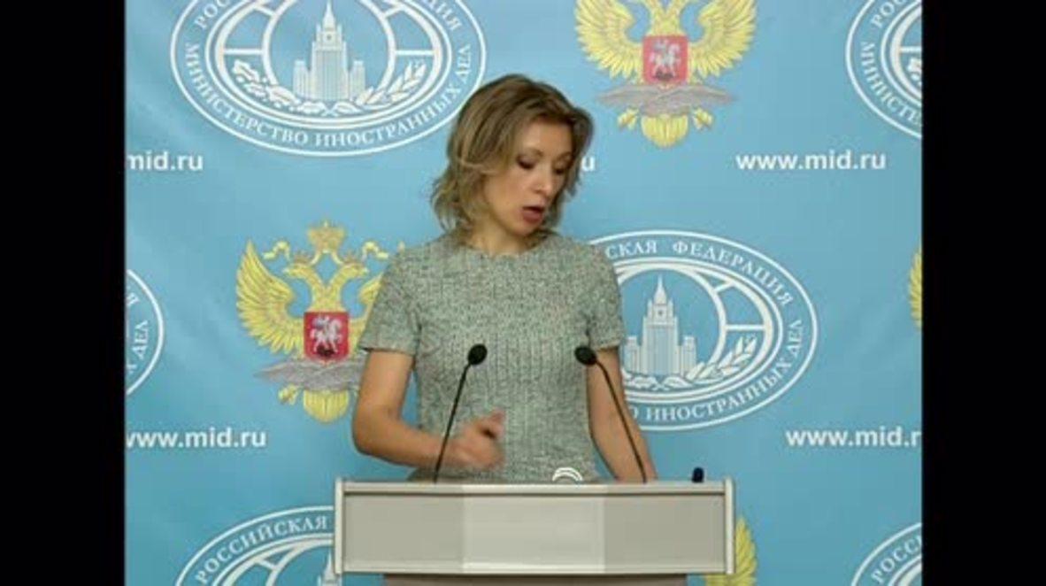 Russia: 'We will not miss Mr Hammond' - Zakharova welcomes UK's new FM