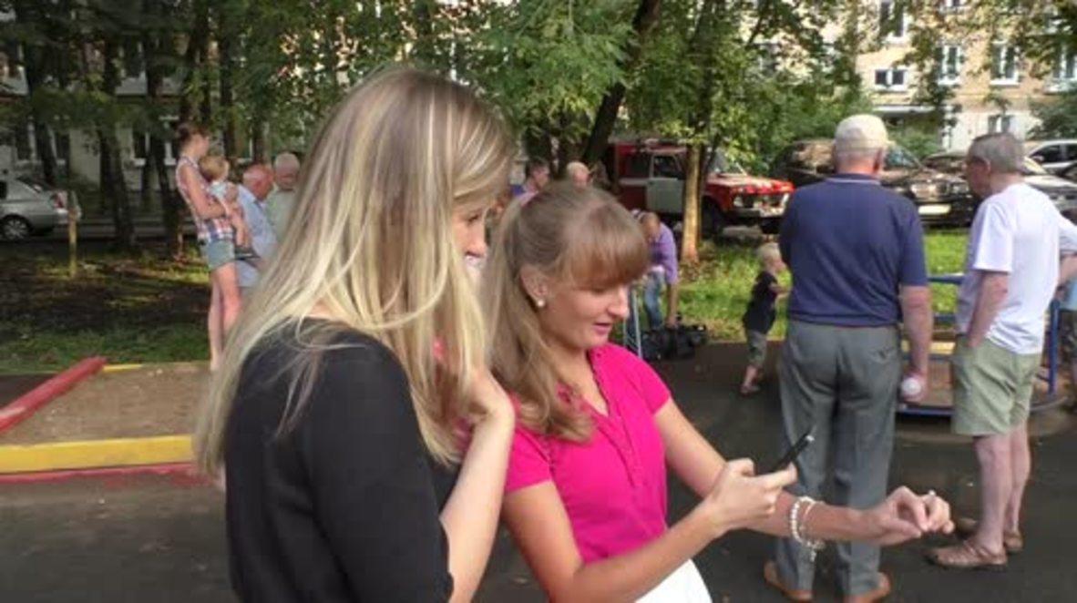 Russia: Muscovites receive EMERCOM classes on Pokemon Go safe play