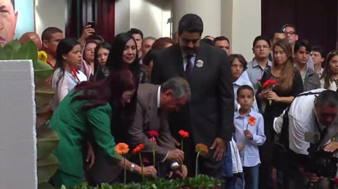 Venezuela: Maduro, Rosneft's Sechin pay tribute to Hugo Chavez in Caracas
