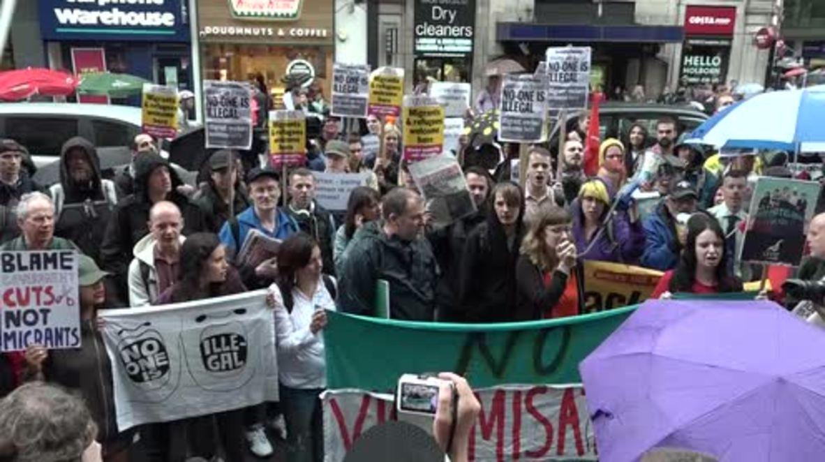 UK: 'Shame on you, Byron' - hundreds protest against deportation raid