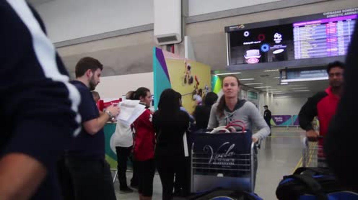 Brazil: Tennis star Martina Hingis arrives in Rio for Olympics