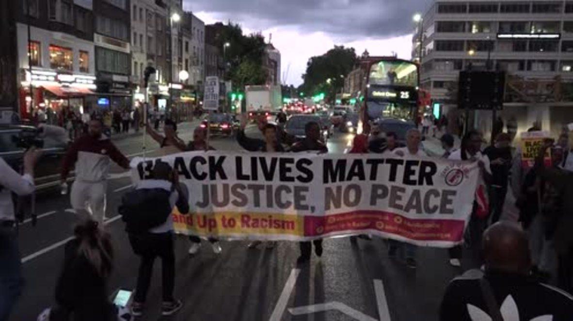 UK: Black Lives Matter activists block streets of E. London in protest against police violence