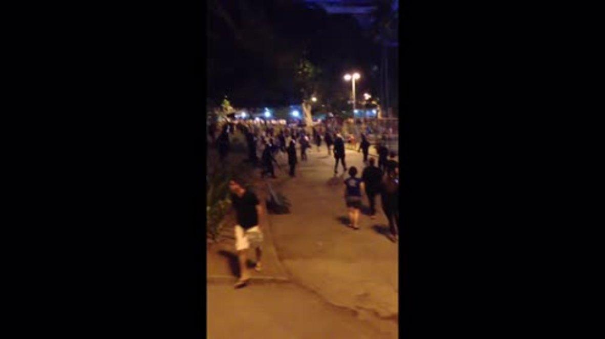 Brazil: Police use tear gas to disperse anti-Olympics protesters outside Maracana Stadium