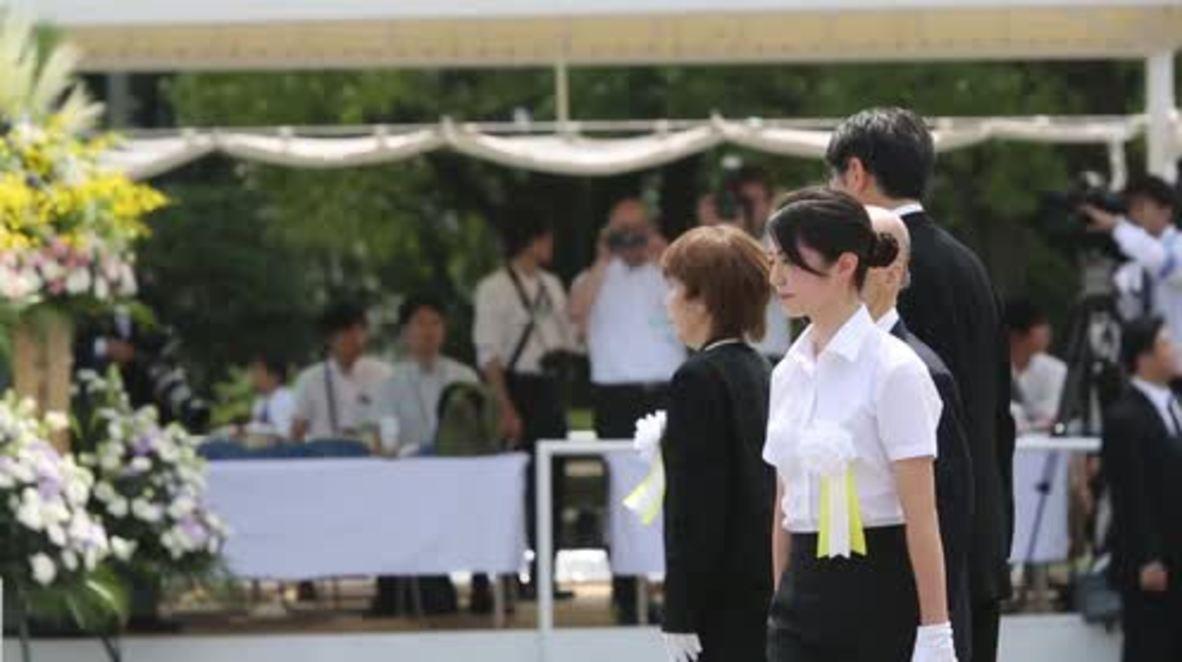 Japan: PM Abe attends Nagasaki memorial on anniversary of atomic bomb