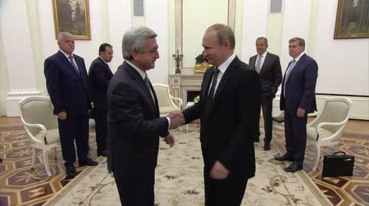 Russia: Putin meets Sargsyan to talk Nagorno-Karabakh and economic ties
