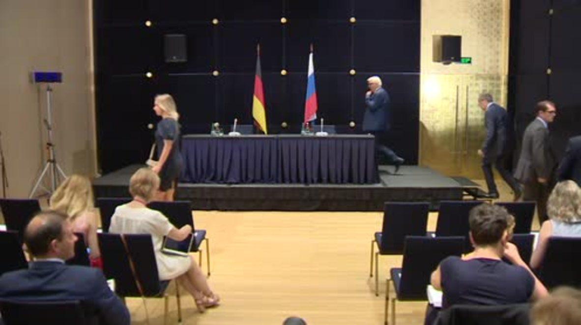 Russia: Lavrov and Steinmeier clash over Aleppo's humanitarian corridors
