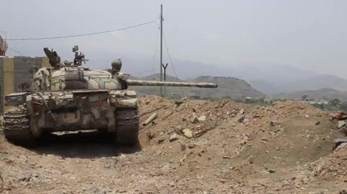 Yemen: Pro-Hadi forces battle Houthi militants in Taiz