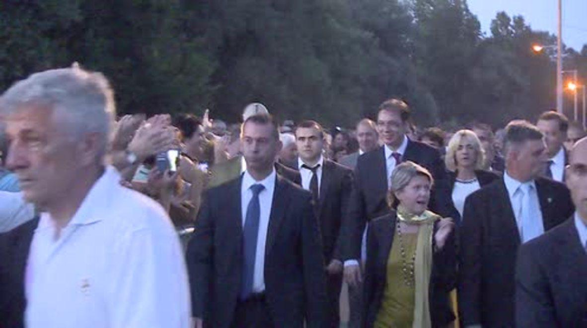 Bosnia and Herzegovina: Serb PM joins vigil for 75th anniv. of Jasenovac death camp