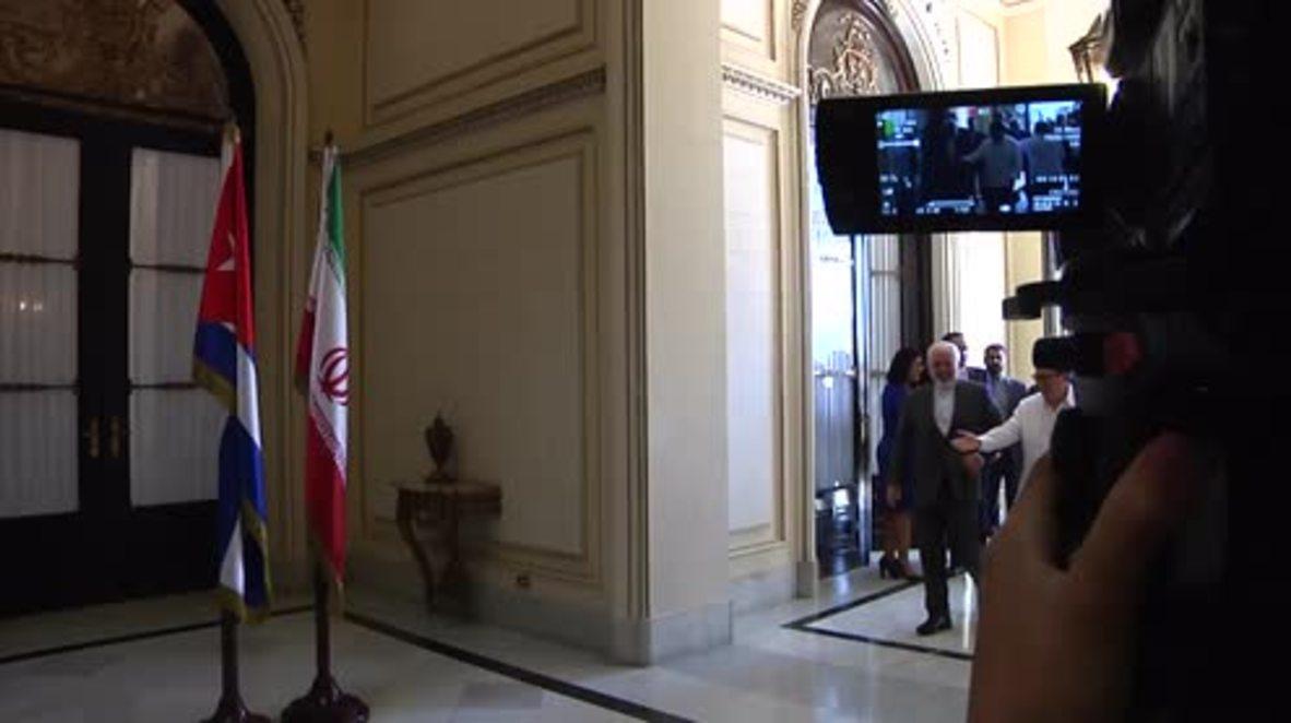 Cuba: Zarif hails Iran-Cuba relations during Rodriguez meeting