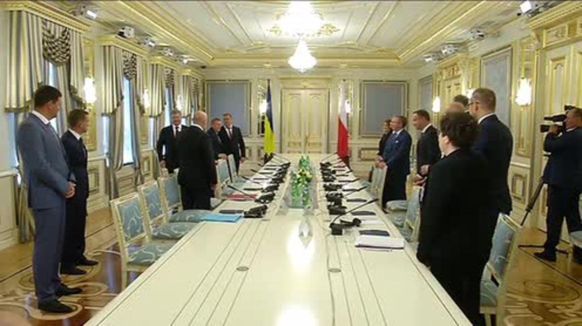 Ukraine: Poland's Duda commends Poroshenko for pro-NATO stance on Ind. Day