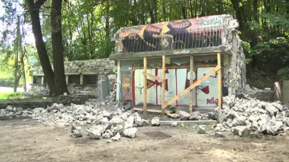 Lithuania: Generator built from Jewish gravestones dismantled in Vilnius