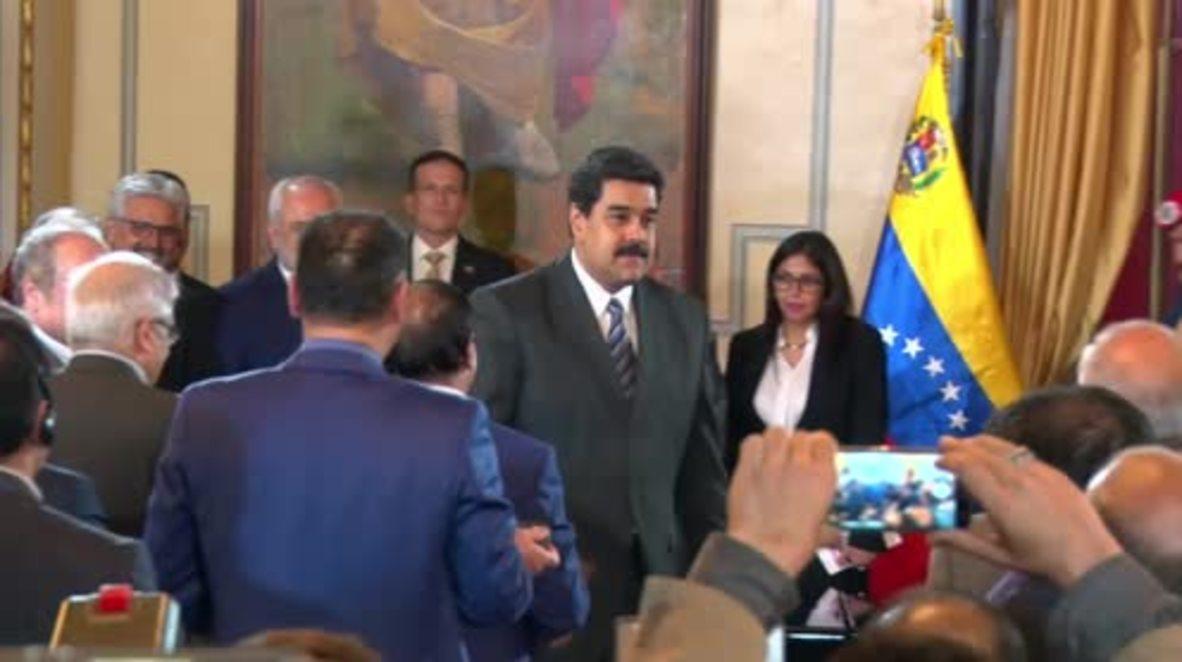 Venezuela: Maduro and Zarif discuss plan to 'spearhead' transformation of UN