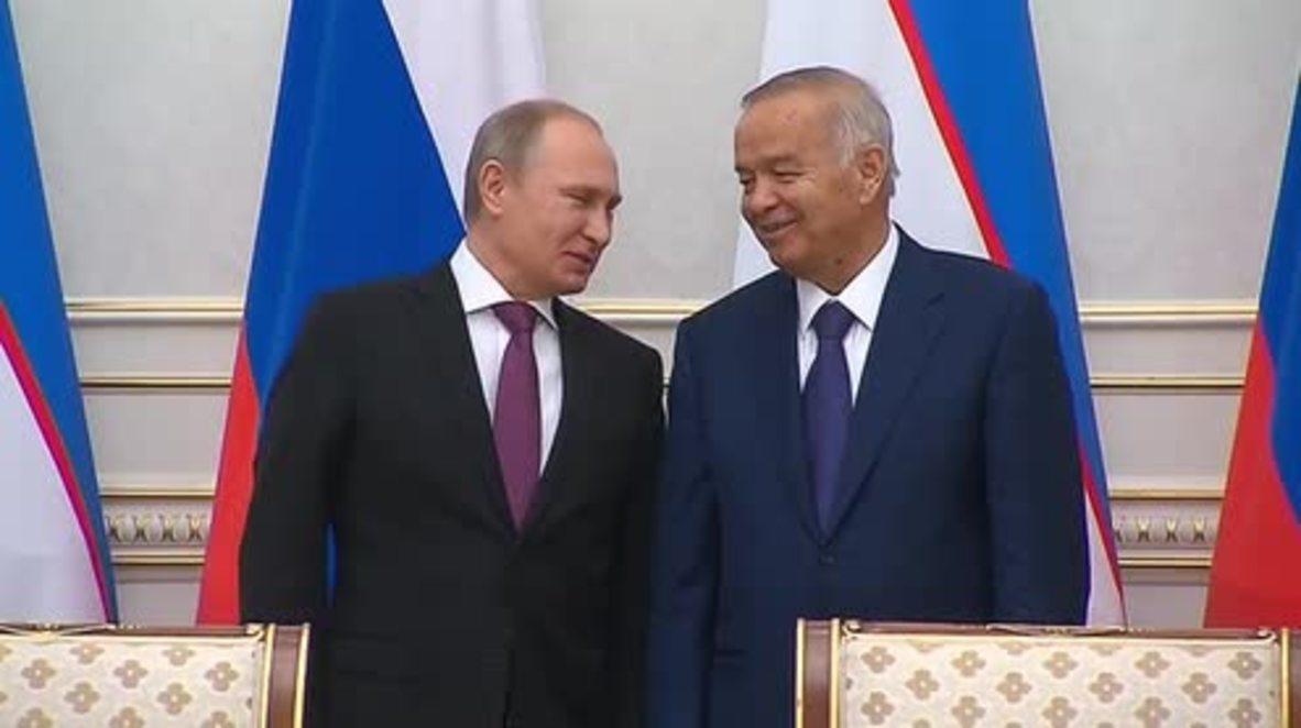 Russia: Archive footage of Uzbek President Islam Karimov