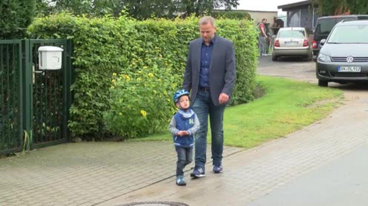 Germany:  AfD's Leif-Erik Holm casts ballot in Mecklenburg-Vorpommern elections