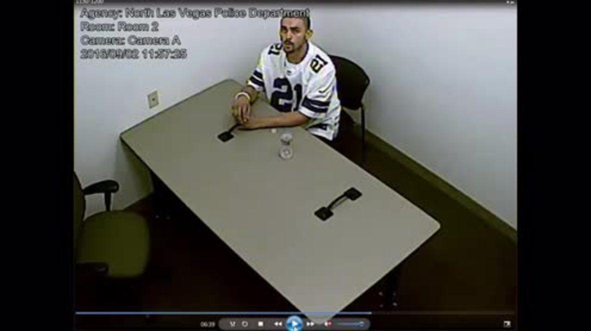 USA: Police CCTV captures suspect breaking handcuffs, escaping interrogation room