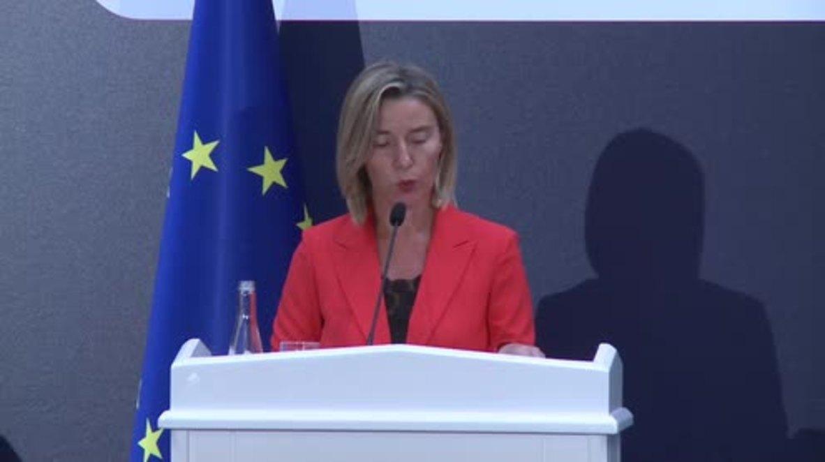 Turkey: EU's Mogherini talks visa liberalisation, the PKK and Syria