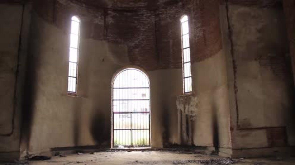 Serbia: Orthodox church in Pristina set ablaze in suspected arson attack
