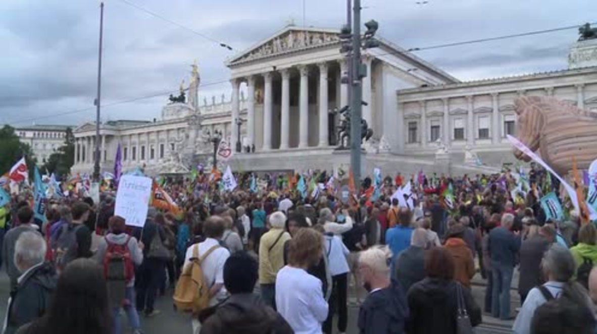 Austria: Thousands march against TTIP and CETA in Vienna