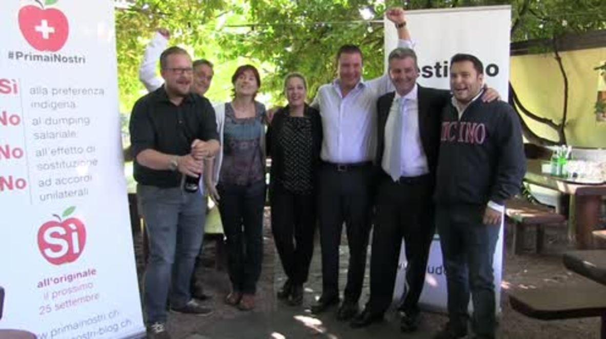 Switzerland: Populist SVP celebrate victory in anti-immigrant labour referendum