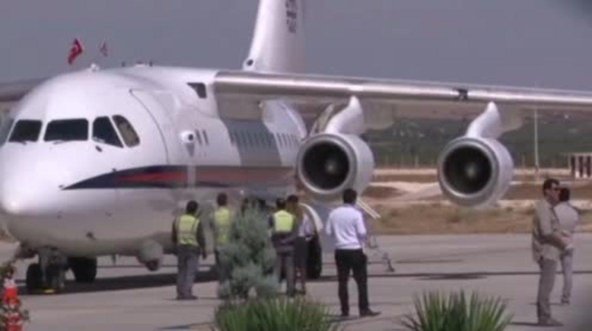 Turkey: UK's Boris Johnson lands in Turkey ahead of visit to Syrian refugee camp