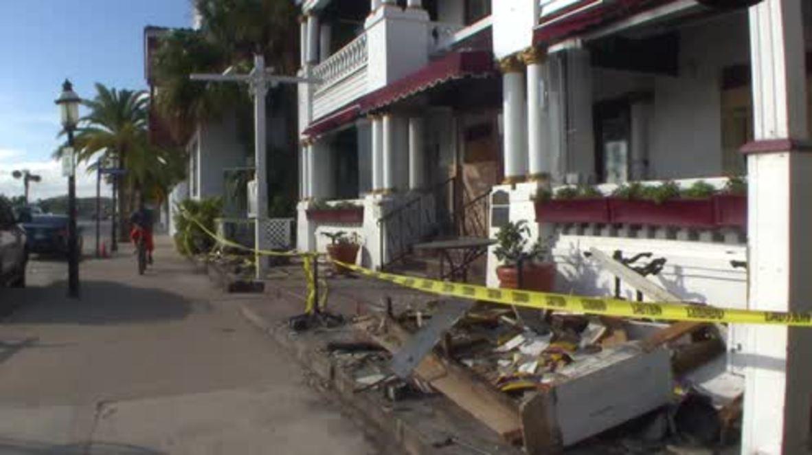 USA: St. Augustine starts recovery efforts following Hurricane Matthew