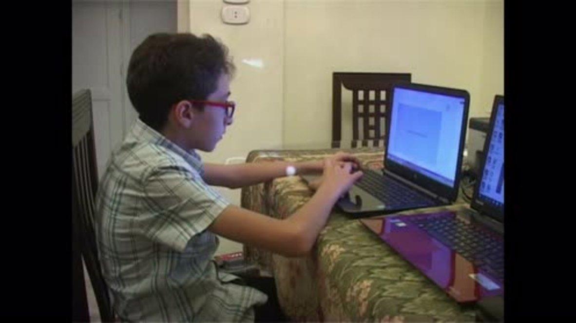 Syria: Meet Michel, Aleppo's 13-year-old software designer