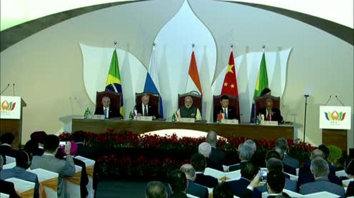 India: BRICS leaders talk economic cooperation at Business Council