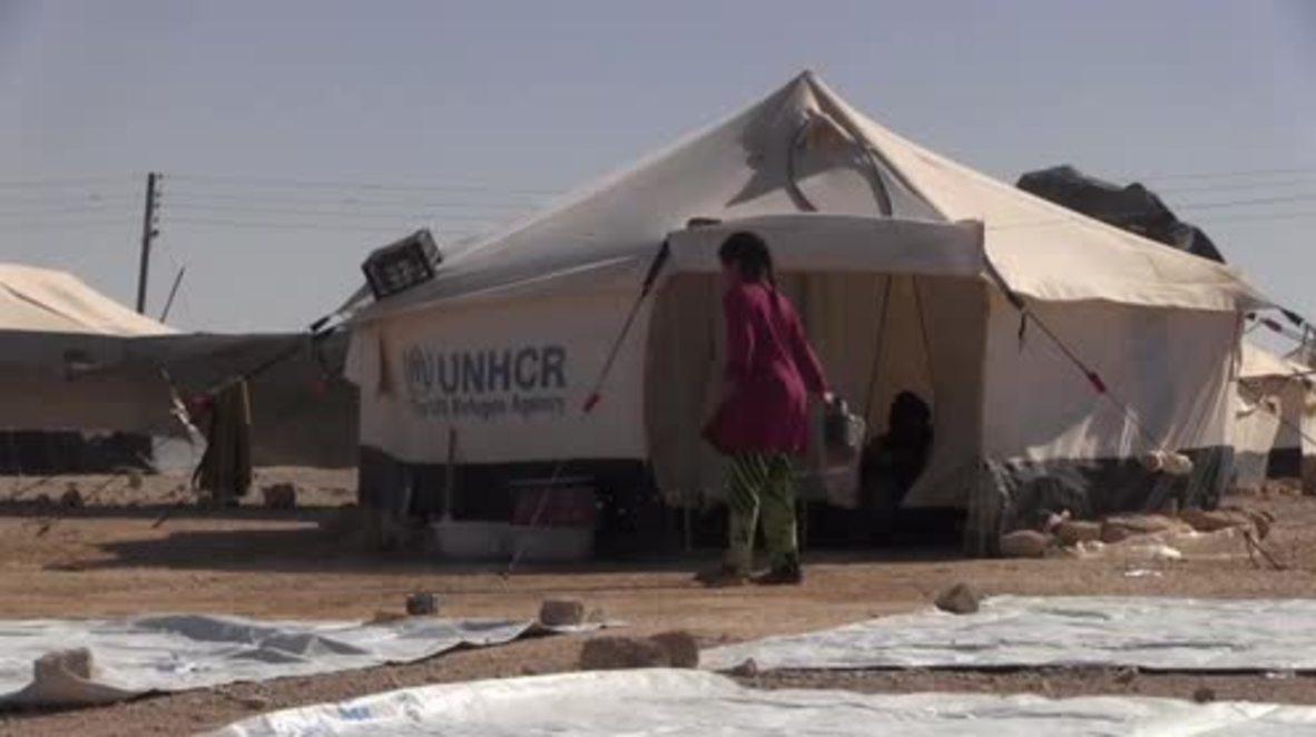 Syria: Iraqi families fleeing Mosul begin arriving at Al-Hool refugee camp