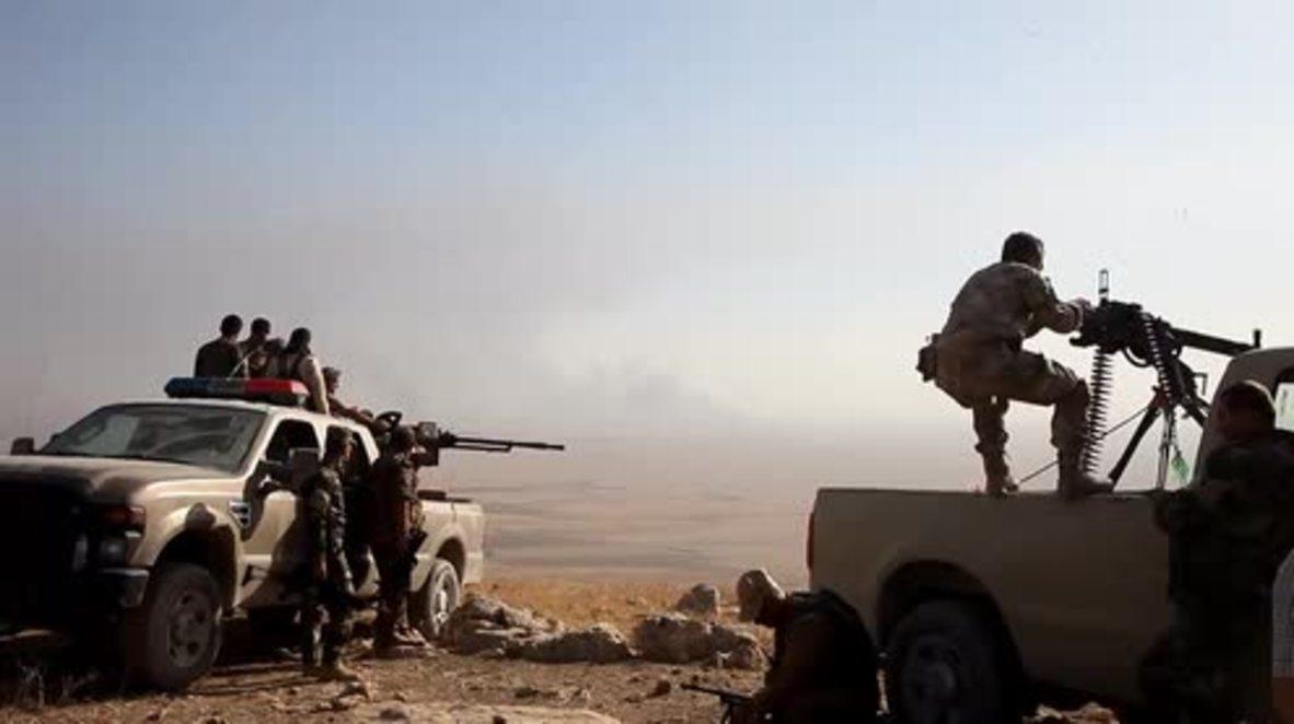Iraq: Peshmerga forces advance to Bashiqa in the battle to retake Mosul