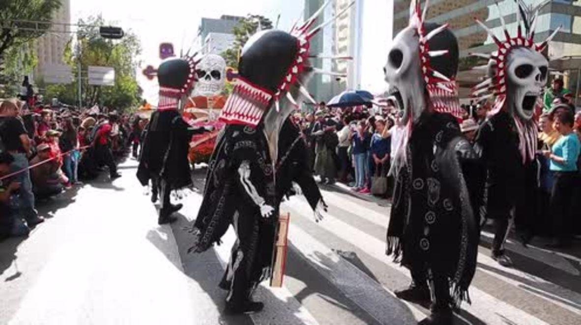 Mexico: Thousands parade through Mexico City on Day of the Dead