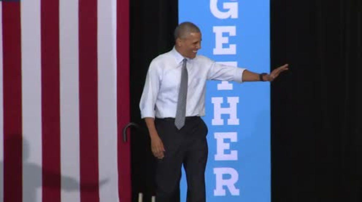 USA: Obama continues on Clinton's campaign trail in Ohio's Capital University