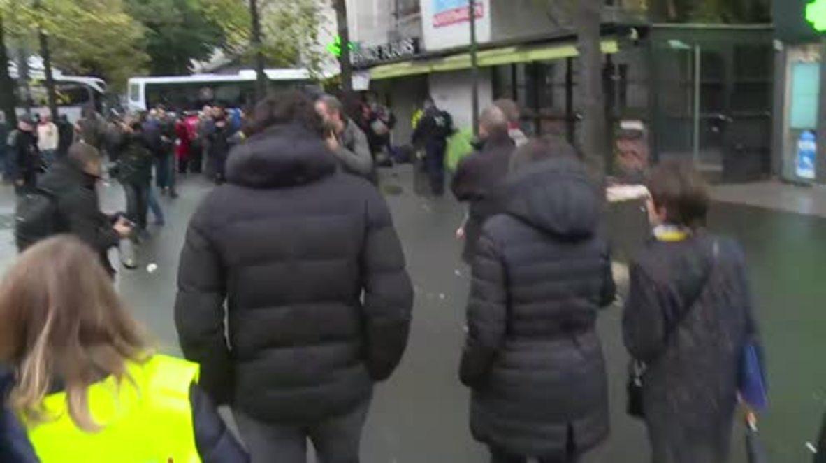 France: Paris Mayor Anne Hidalgo arrives amid eviction of refugee camp