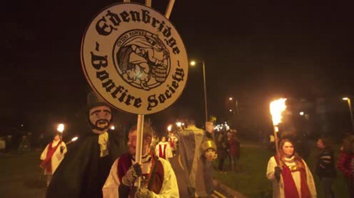 UK: Trump effigy meets a fiery end at Edenbridge bonfire night
