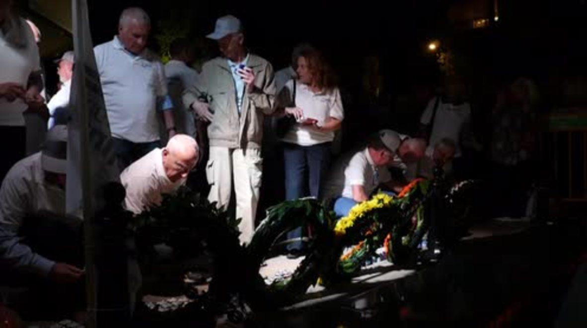 Israel: Rabin assassination commemorators protest against Netanyahu in Tel Aviv