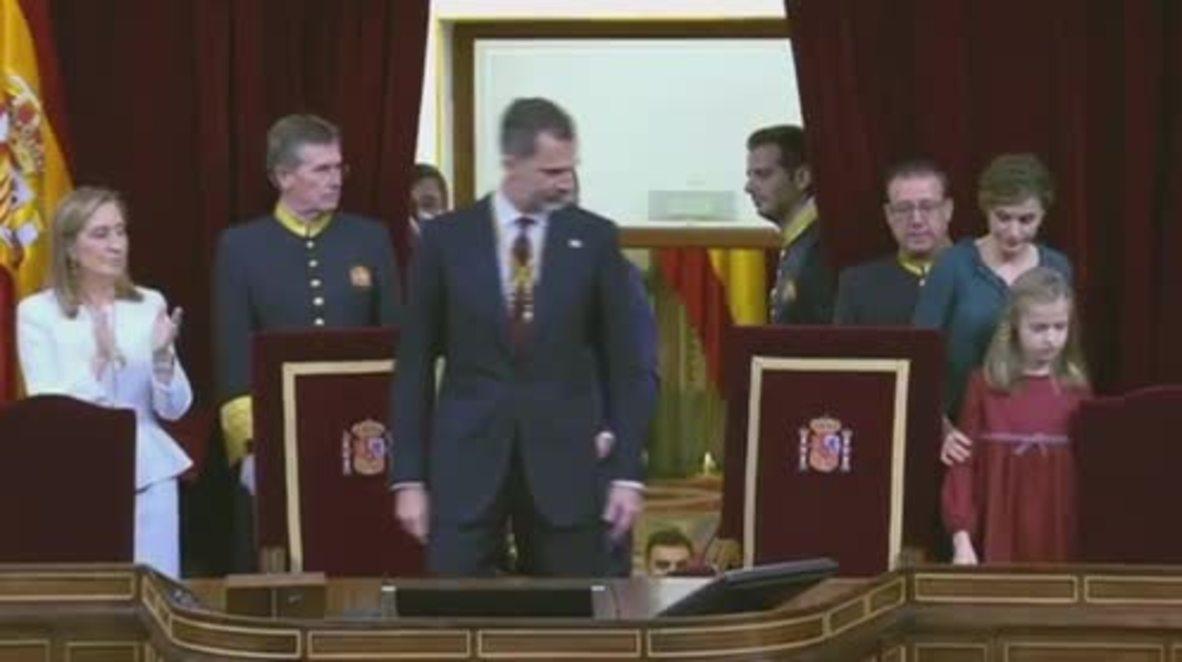 Spain: Podemos shun King Felipe by refusing to applaud speech at Congress