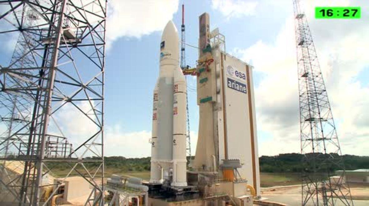 French Guiana: Ariane 5 ES rocket lifts off carrying 4 new Galileo satellites