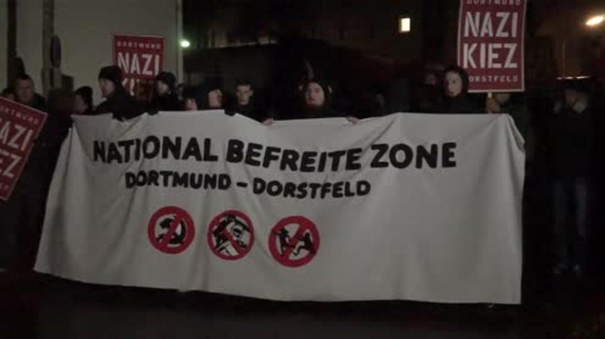 Germany: Far-right protesters march through Dorstfeld, Dortmund