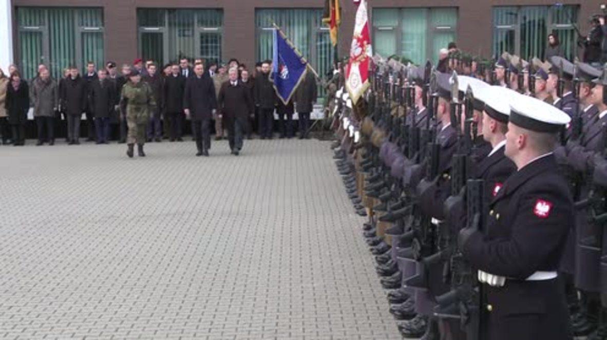 Poland: Polish and German presidents visit NATO HQ in Szczecin
