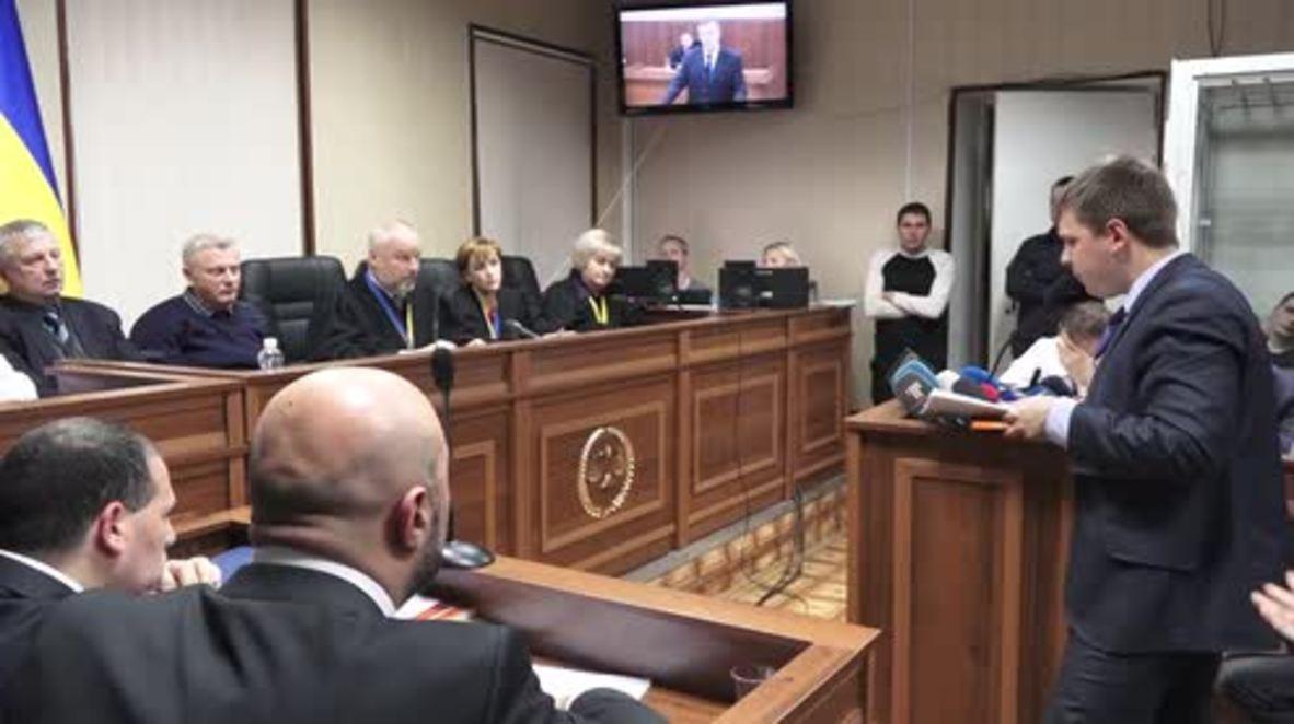 Ukraine: Yanukovych testifies at Maidan protest shootings trial