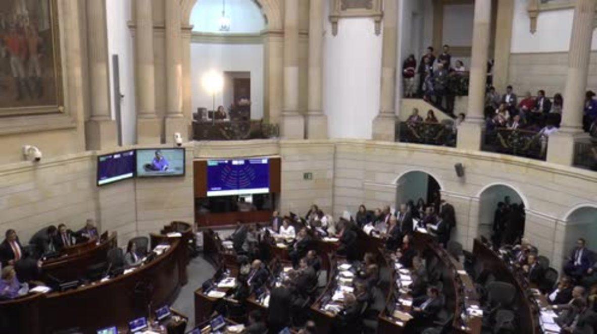 Colombia: Congress debate FARC peace deal