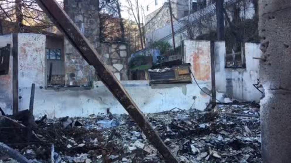 USA: Wildfires leave Gatlinburg in ruins
