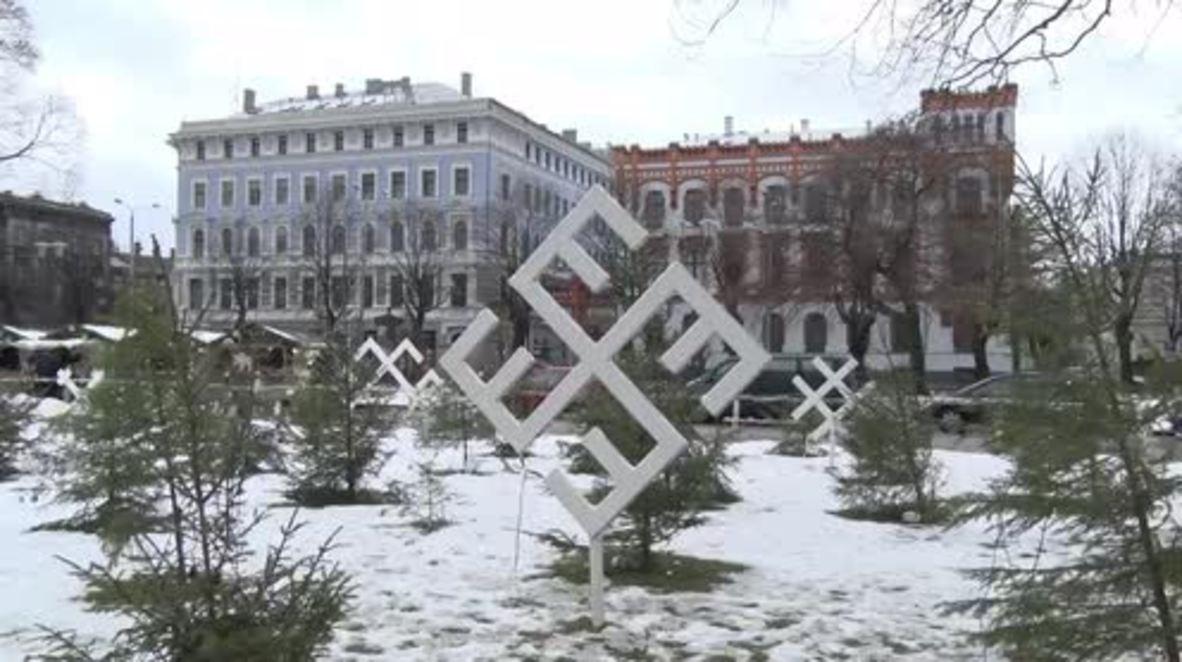 Latvia: Swastika-shaped rune in centre of Riga repels tourists