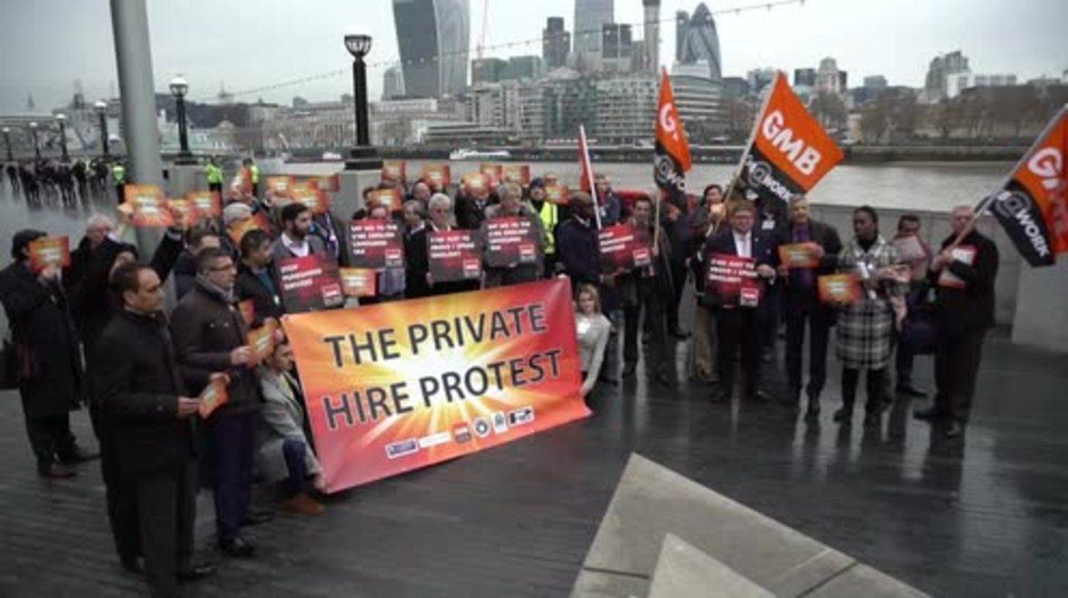 UK: Uber drivers protest against compulsory English language exams