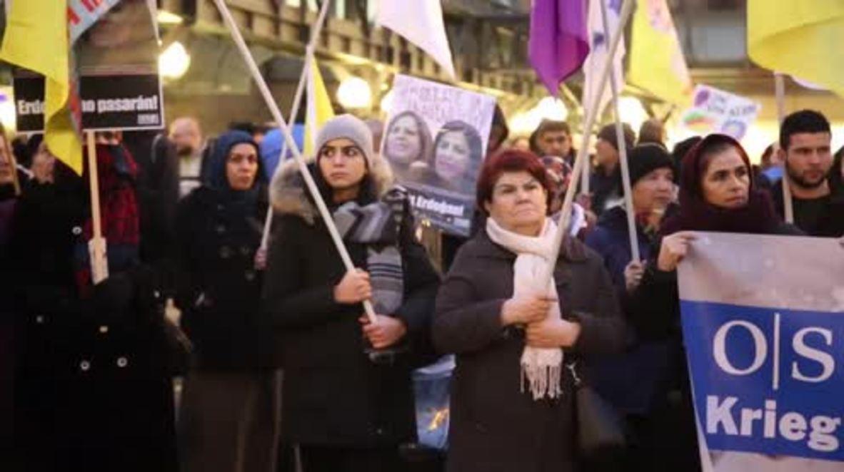 Germany: Pro-Kurdish activists rally against OSCE countries' Turkey policy