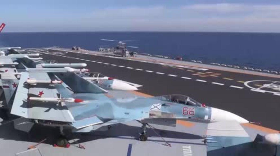 Syria: 'Hero of Russia' Matkovski talks military life aboard the Admiral Kuznetsov