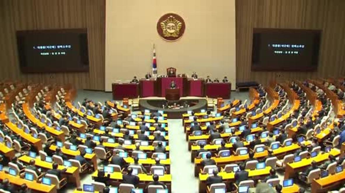 South Korea: National Assembly votes to impeach President Park