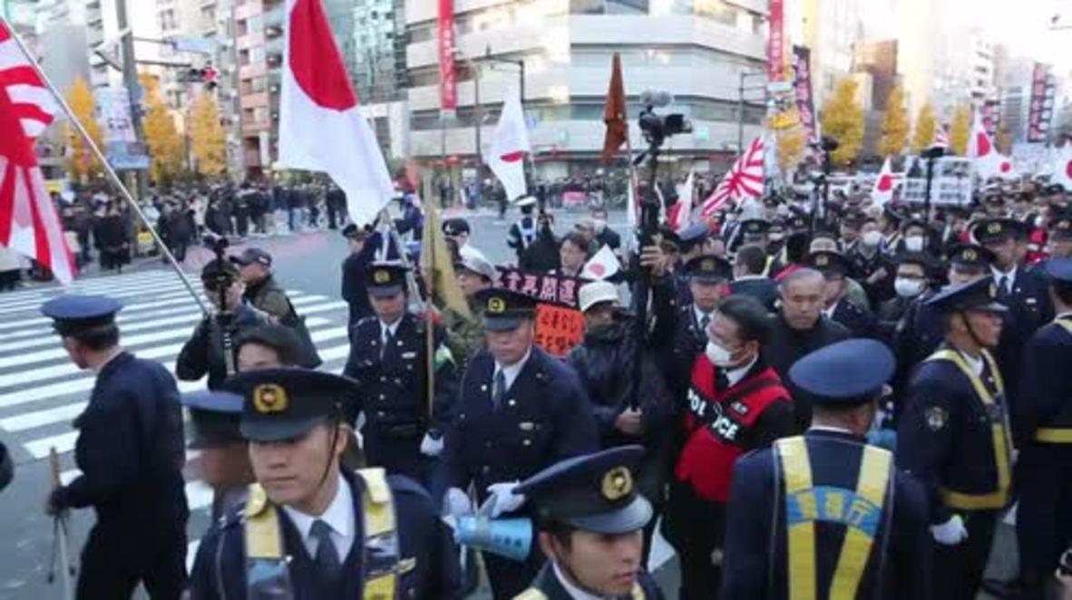 Japan: Anti-Korean nationalist rally met by anti-racist counter-protesters in Tokyo