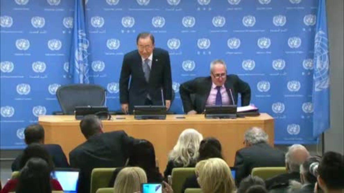 UN: Ban Ki-moon hints at running for South Korea presidency
